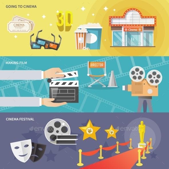 Cinema Horizontal Banners Set - Miscellaneous Conceptual