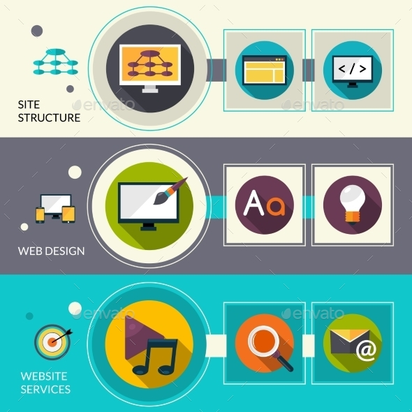 Web Design Banners - Technology Conceptual