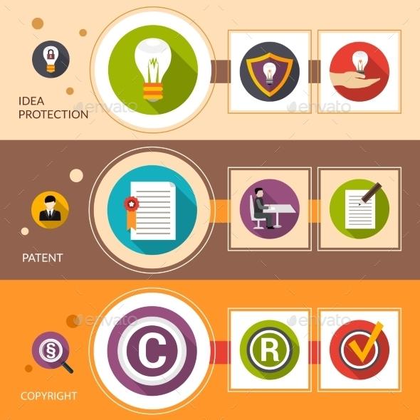 Patent Idea Protection Banner Set - Business Conceptual