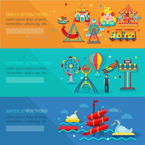 Amusement Park Banner - Miscellaneous Vectors