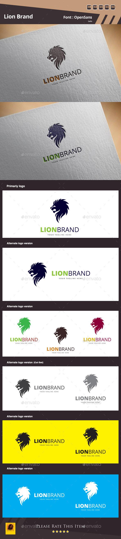 Lion Brand Logo Template - Animals Logo Templates