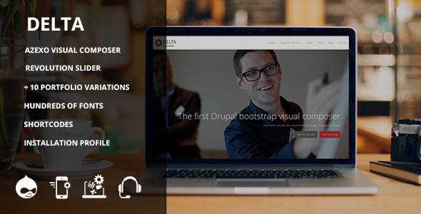 Delta - Responsive multipurpose theme - Corporate Drupal