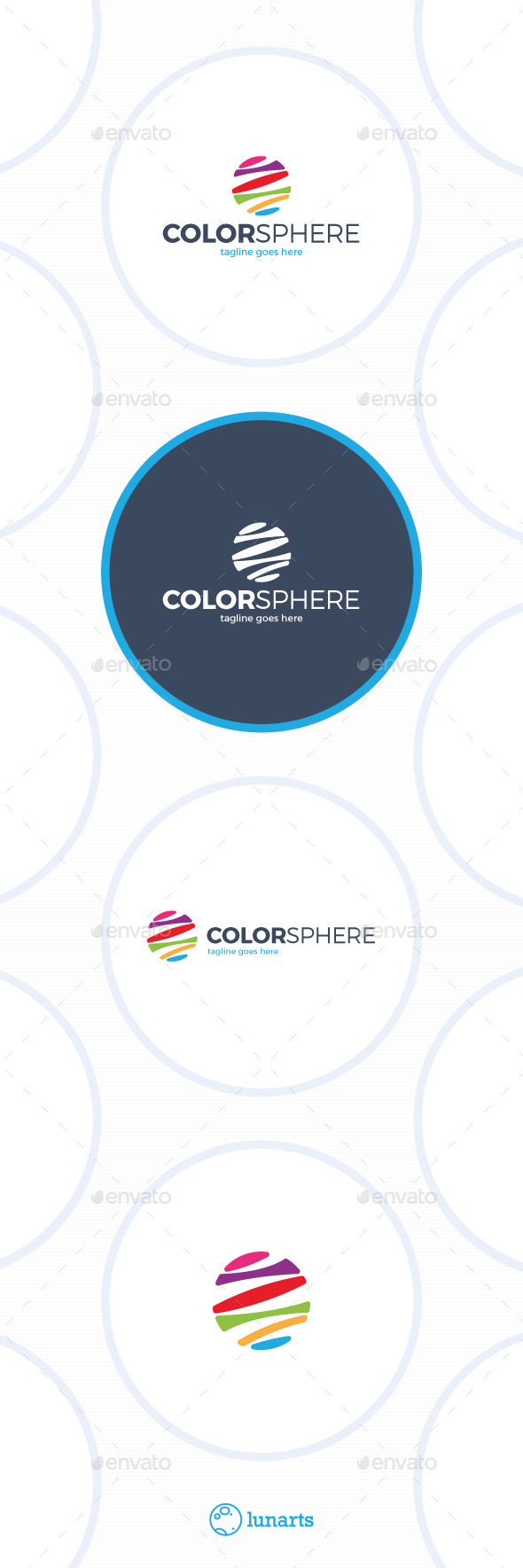 Color Sphere Logo - Colorful Circle - Abstract Logo Templates