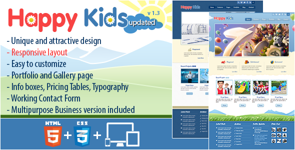 Happy Kids – Multipurpose HTML Template