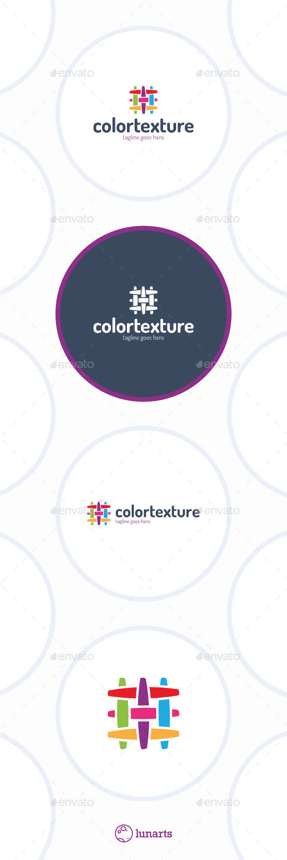 Colorful Texture Logo - Fabric Canvas Linien - Abstract Logo Templates
