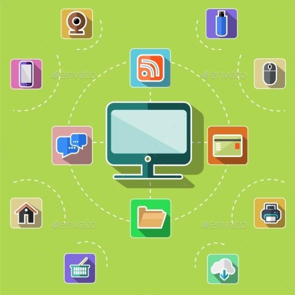 Web, Computer, Mobile Icons - Web Technology