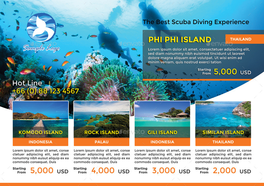 a5 travel packages flyer by ninninny