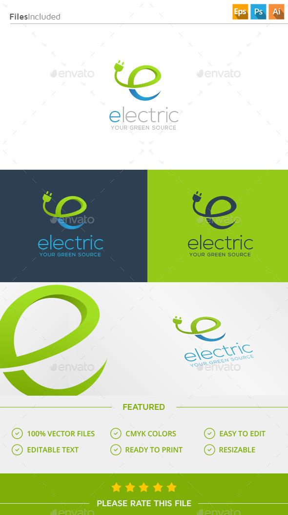 Electricity Letter E Logo - Letters Logo Templates