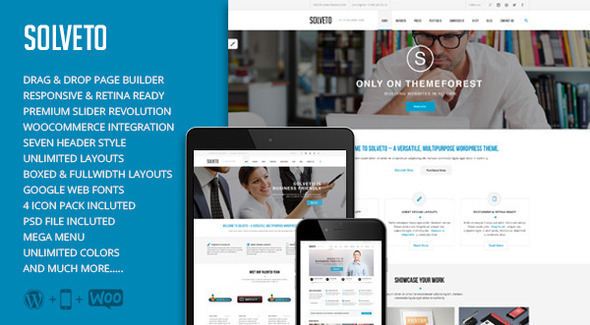 Solveto – Multi-Purpose Business Theme