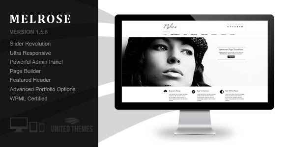 Melrose – Responsive Portfolio WordPress Theme