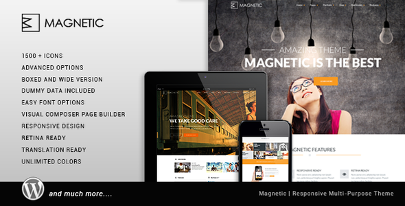 Magnetic – Creative Responsive Multi-Purpose Theme