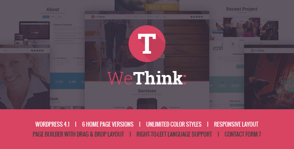 We Think - Single&Multi Page WordPress Theme - Corporate WordPress