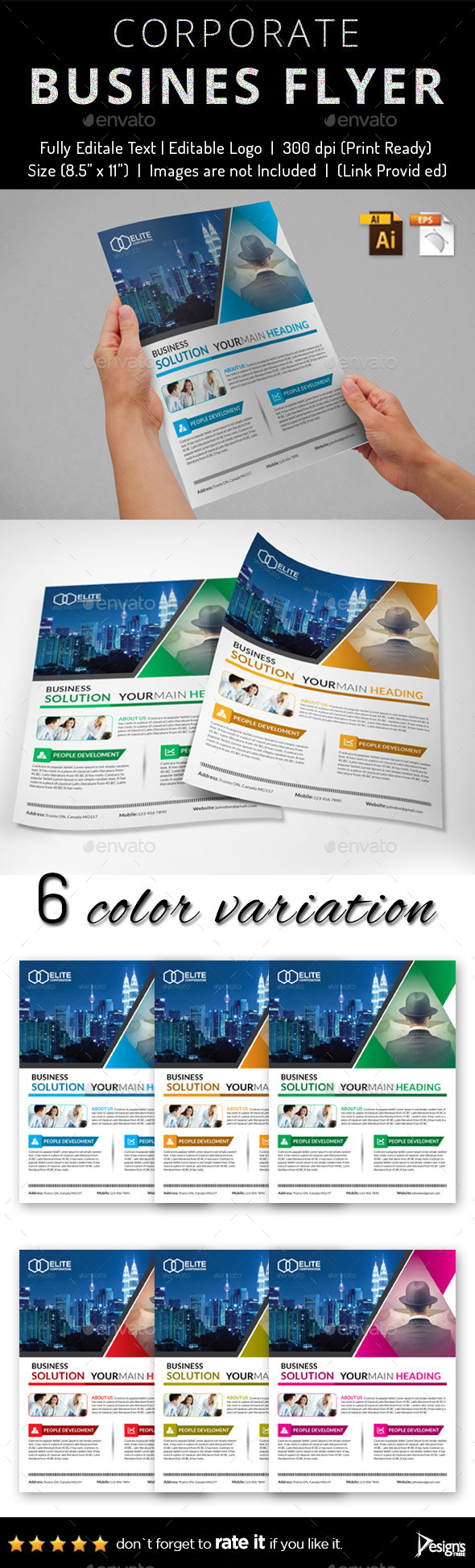 Multipurpose Business Flyer 45 - Corporate Flyers