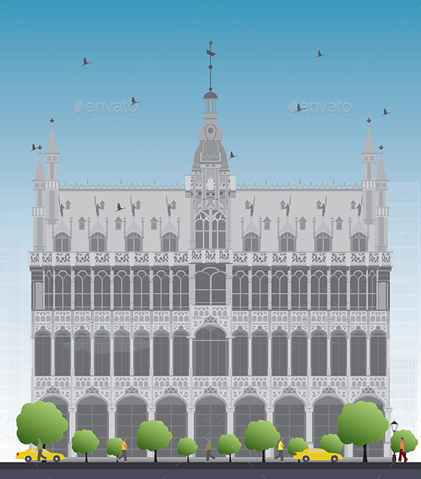 King's House on Grand Place Square in Brussels - Buildings Objects