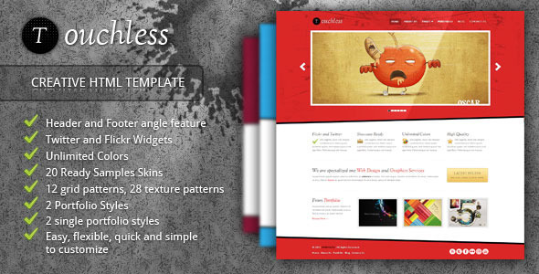 TOUCHLESS - Creative HTML Template - Creative Site Templates