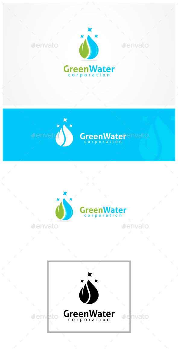 Cleen Water - Nature Logo Templates