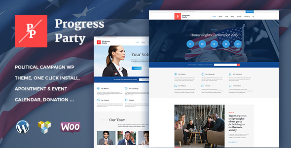 ProParty | Political WordPress theme - Political Nonprofit