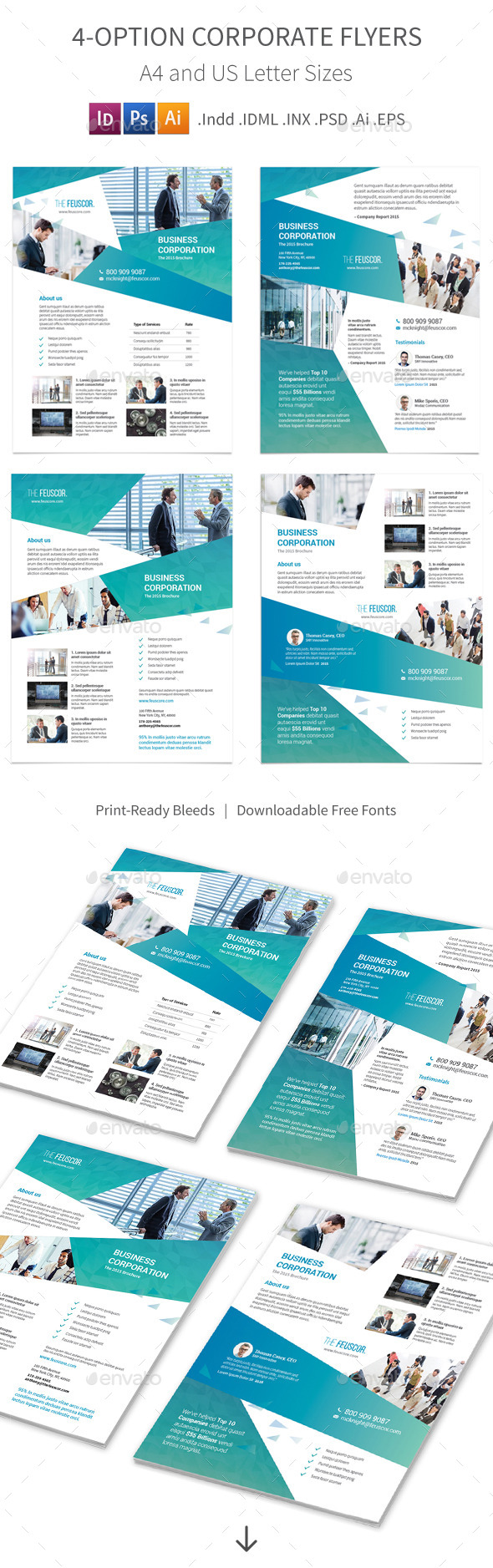 Corporate Company Flyers – 4 Options - Corporate Flyers