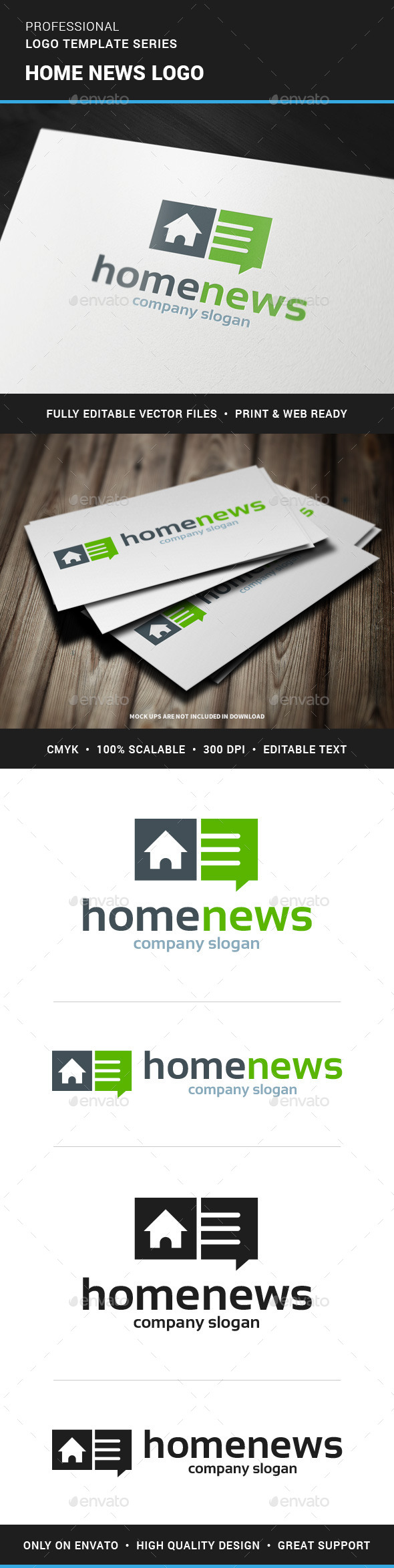 Home News Logo Template - Buildings Logo Templates