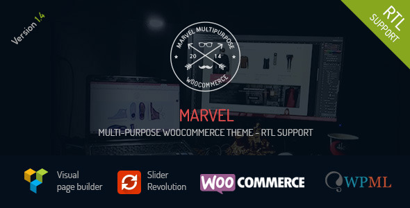 Marvel - Multi-Purpose WooCommerce Theme + RTL