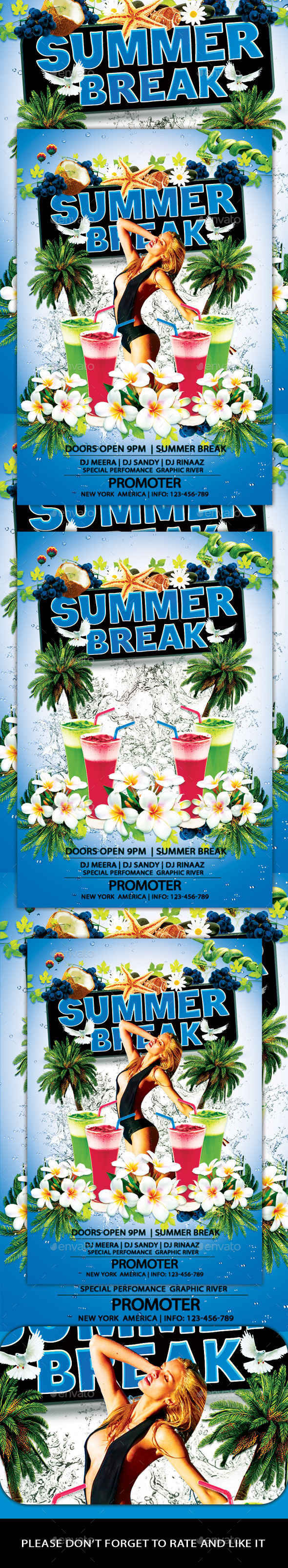 Summer Break Flyer - Flyers Print Templates