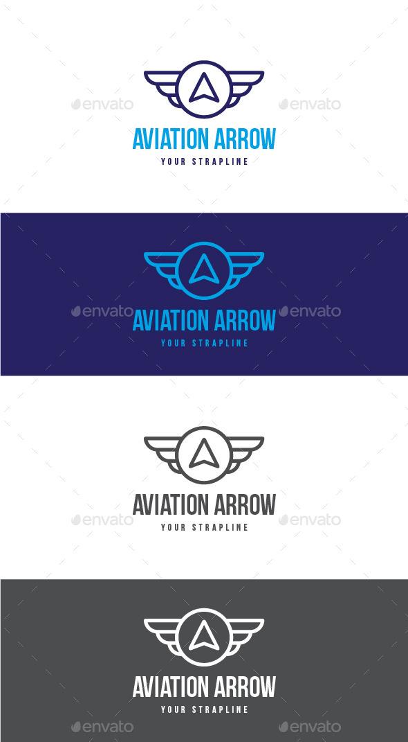 Aviation Arrow Letter A Logo - Letters Logo Templates
