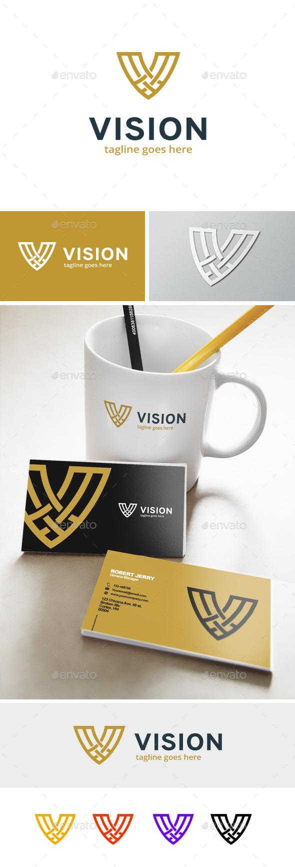 Letter V Logo - Vision - Letters Logo Templates