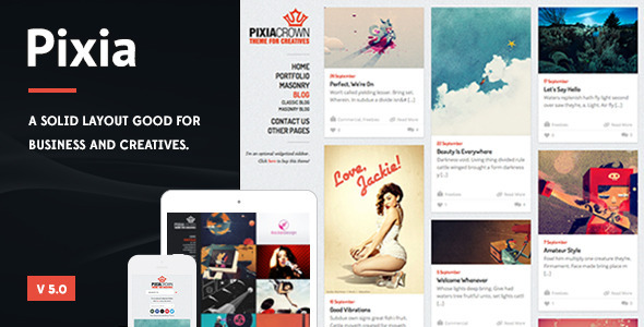 Pixia – Showcase WordPress Theme