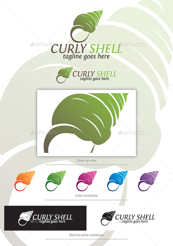 Curly Shell - Vector Abstract