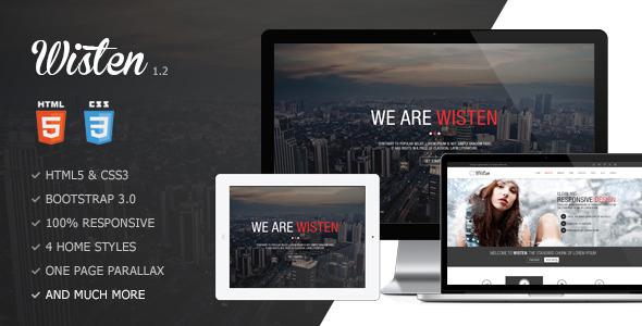Wisten – One Page Parallax Theme