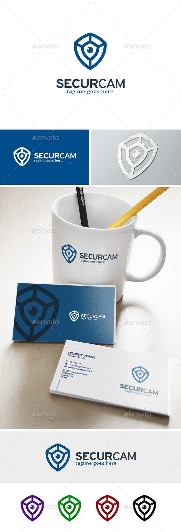 Security Camera Logo - Objects Logo Templates