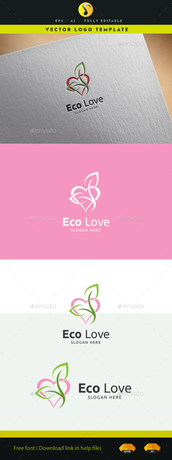 Eco Love - Nature Logo Templates