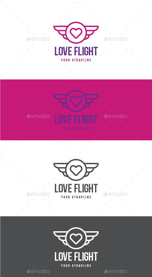 Love Flight Logo - Symbols Logo Templates