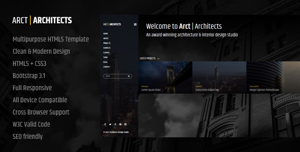 Arct – Architects Corporate Template