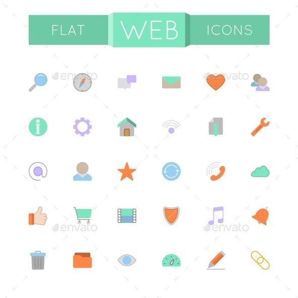 Vector Flat Web Icons - Web Icons