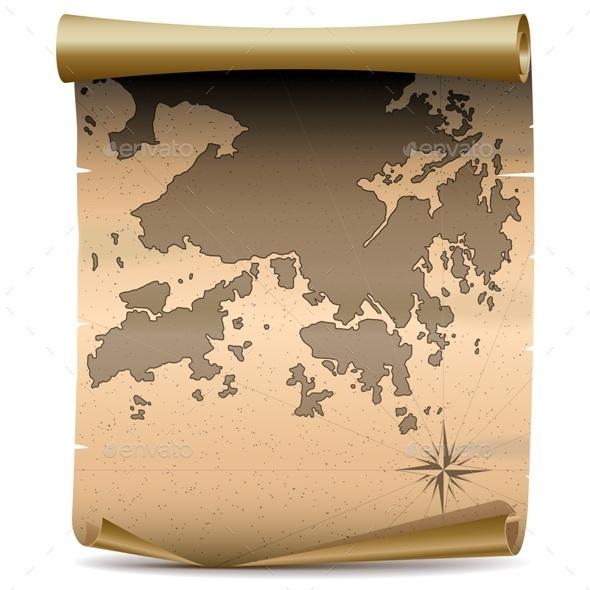 Hong Kong Vintage Map - Travel Conceptual
