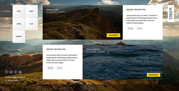 LEORE - Creative Photography Template