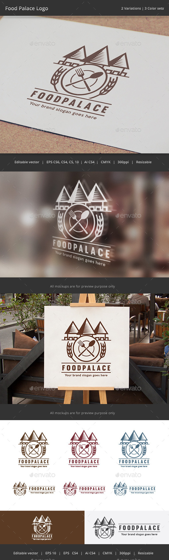 Food Palace Logo - Crests Logo Templates