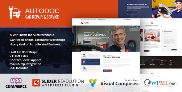 AutoDoc – Car Repair Mechanic Shop WordPress Theme