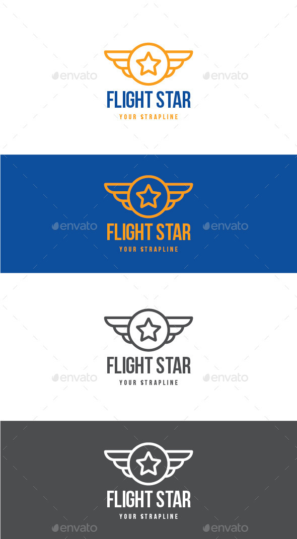 Flight Star Logo - Symbols Logo Templates