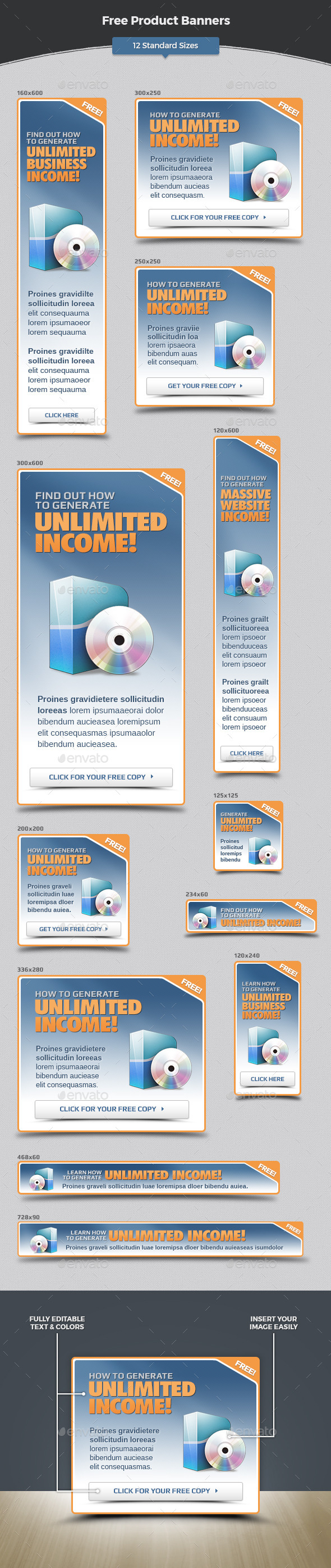 Free Product Banners - Banners & Ads Web Elements
