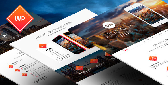 Aire – App WordPress Theme