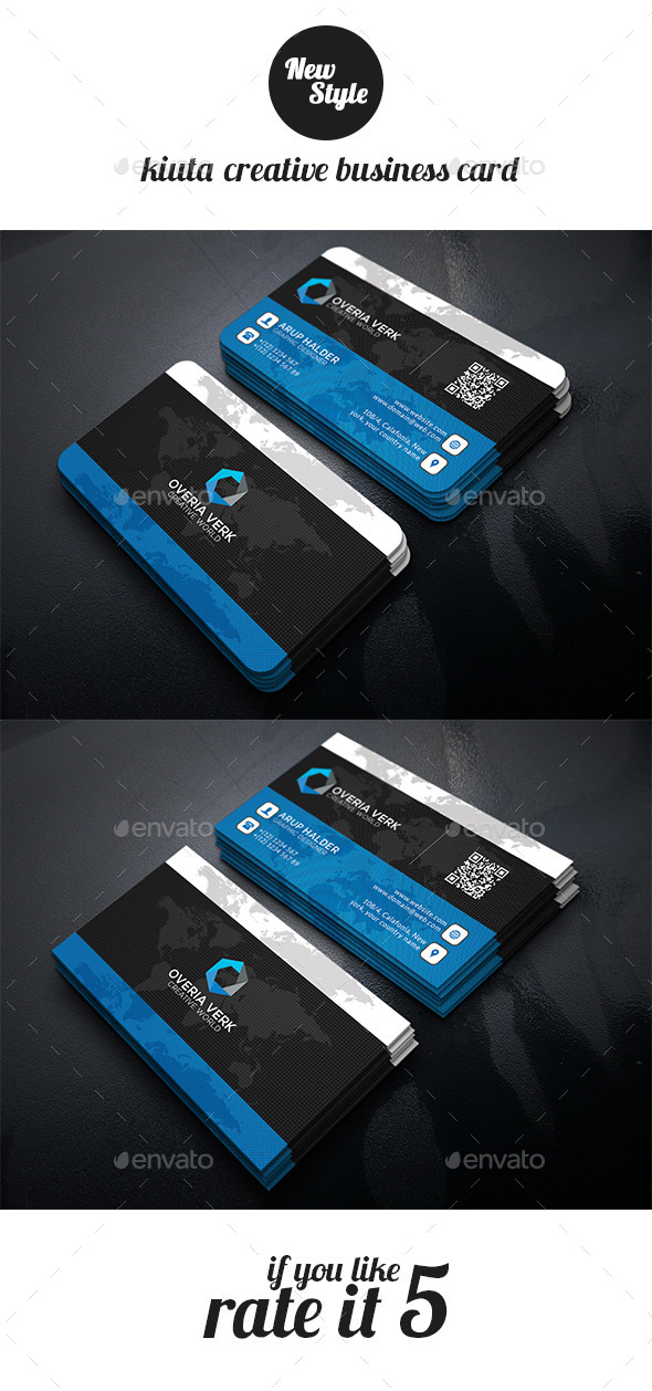 Kiuta Creative Busienss Card Template - Business Cards Print Templates