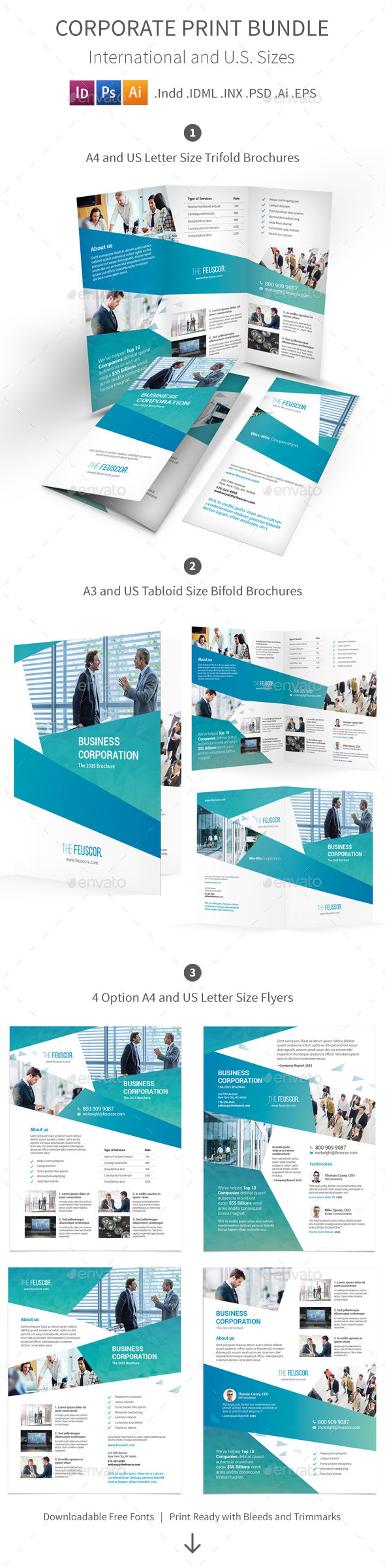 Corporate Company Print Bundle - Corporate Brochures