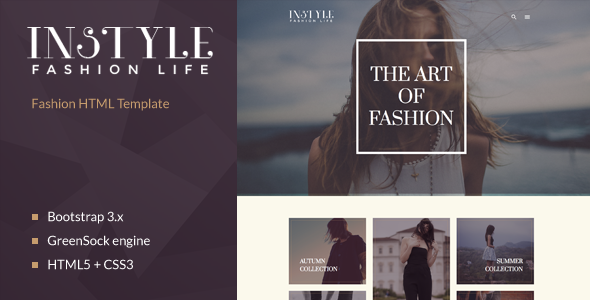 Instyle – Fashion & Elegant HTML Template