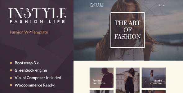 Instyle – Fashion & Elegant WP Theme