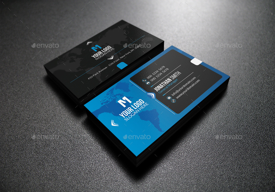 Modern Blue Business Card by far_star60 | GraphicRiver