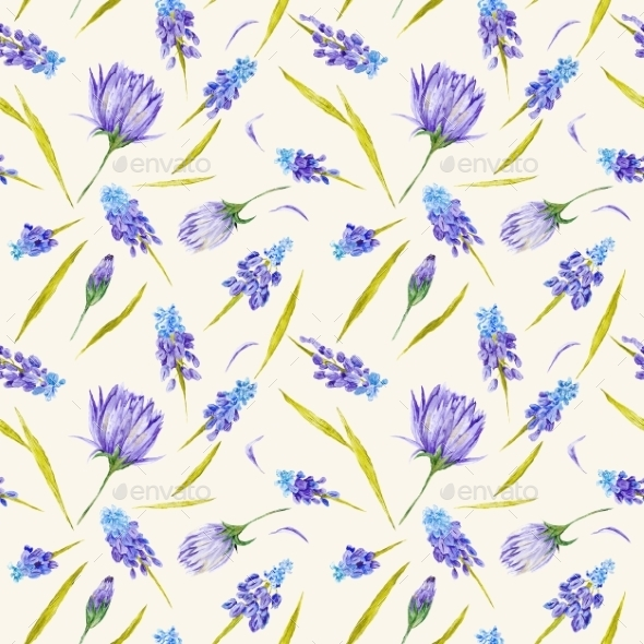 Country Field Floral Pattern - Nature Backgrounds