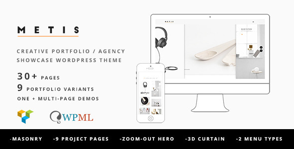 Metis – Portfolio / Agency WordPress Theme
