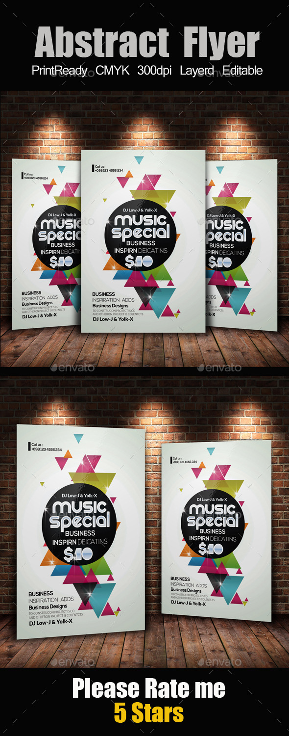 Electro & Futuristic Flyer Template - Events Flyers
